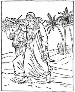 Abraham Sacrifices Isaac Coloring Page Coloring Pages
